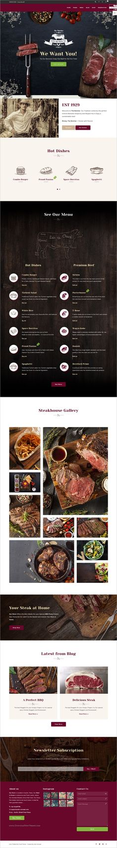 The butcher is clean and modern design responsive #WordPress theme for #food and eCommerce websites with 4 homepage layouts of classic #meat lovers, Steak houses, burger houses and chicken maniacs download now➩ https://themeforest.net/item/the-butcher-wordpress-food-ecommerce-theme-for-steak-houses-burger-houses-and-chicken-maniacs/19348143?ref=Datasata