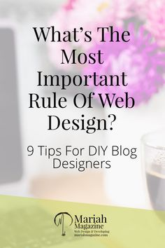 What's The Most Important Rule Of Web Design?