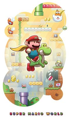 Super Mario World - Alex Riegert-Waters: Illustration & Design