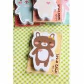 Chunky Animal Sticky Note Set (Brown Bear)