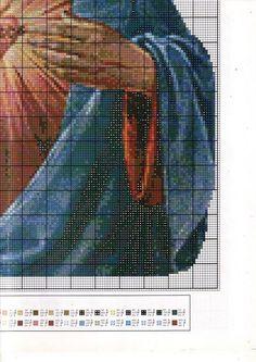 Jesus-sacred heart 4/4....solo esquemas religiosos (pág. 67)   Aprender manualidades es facilisimo.com