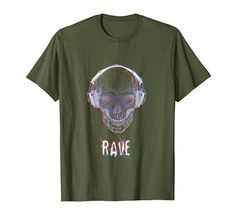 Regenbogen EDM Totenschädel Illusion Trance Psy T-Shirt Rave, Edm, Mens Tops, Design, Fashion, Illusions, Rain Bow, Friends, Musik