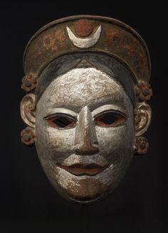 "cavinmorrisgallery: ""Masks Indian - Arunachal Pradesh - Monpa, Female Mask, 19th c. Polychromed wood 10 x 7.5 x 4.25 inches 25.4 x 19.1 x 10.8 cm M 49s """