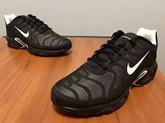 best website 608cd 98a45 Nike Air Max Plus Hyperfuse Tn Tuned 1 Mens Size 8 Black White 483553 020  Rare