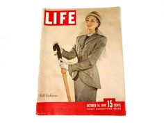 Life Magazine October 14 1946 Fall Fashions 1940s Vol 21 No 16 Zippo Windproof Lighter Ad Ladies Fashion Max Factor Ad Centerfold by CollectionSelection on Etsy