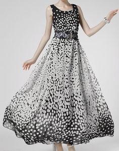 $15.94 Polka Dot Print Scoop Neck Sleeveless Casual Dress For Women