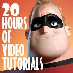 Mr. Incredible - 20 hours of video tutorials - ASMR, Riccardo Minervino on ArtStation at https://www.artstation.com/artwork/qw0Nz