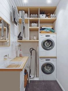 perfect laundry room designs ideas for small space 44 ~ mantulgan.me perfect laundry room designs ideas for small space 44 ~ mantulgan.me - Own Kitchen Pantry Outdoor Laundry Rooms, Modern Laundry Rooms, Laundry Room Layouts, Laundry Room Remodel, Basement Laundry, Laundry Room Organization, Laundry Room Bathroom, Small Utility Room, Laundry Room Inspiration