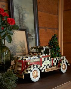 Courtly Check Truck  by MacKenzie-Childs at Neiman Marcus.