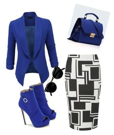 Blue Lady by kayla-warnell-moore on Polyvore featuring polyvore fashion style LE3NO Dorothy Perkins JustFab Relaxfeel clothing