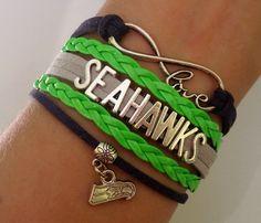 SEAHAWKS Bracelet Seattle Seahawks Football by SummerWishes