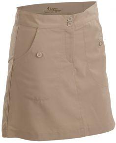 "Khaki Nancy Lopez Ladies & Plus Size 18"" Charming Golf Skort. More lovely outfits at #lorisgolfshoppe"