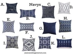 Modern & Cheap Throw Pillow Covers in Every Color! - Jessica Welling Interiors Cheap Throw Pillow Covers, Square Pillow Covers, Modern Pillow Covers, Modern Pillows, Decorative Throw Pillows, Navy Blue Throw Pillows, Velvet Pillows, Interiors, Cushions