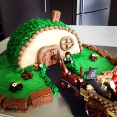 The Hobbit cake  Nathan's theme is the Hobbit.....need to start planning :)