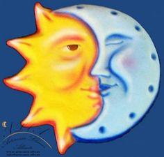 sol y luna cartón piedra  cartón piedra,pintura corte y moldeaje cartón,pintado a mano