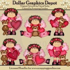 Little Pals - Valentine Angels 2 - Clip Art - $1.00 : Dollar Graphics Depot, Your Dollar Graphic Store