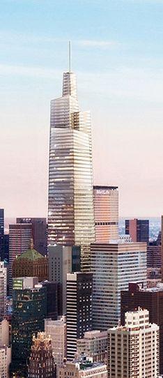 One Vanderbilt Place Tower, 51 East 42nd Street, New York City designed by Kohn Pedersen Fox Associates (KPF) :: 65 floors, height 461m :: proposal, AFC