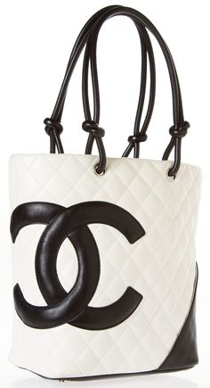 Chanel Ivory Black Quilted Cambon Tote The logo tote that women of all ages  can 91d6ac6d6cf85