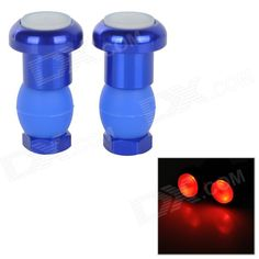 Bike Bicycle Handlebar Grip Red Light 2-Mode LED Warning Safety Light - Blue (Pair / 2 x AG10) Price: $3.99