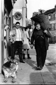 """Paname Paris on Twitter: """"Claude Dityvon. Dans la rue Pixéricourt. 1966… """""""