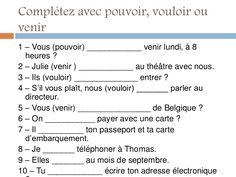 Pour pratiquer les verbes très courants du 3ème groupe.