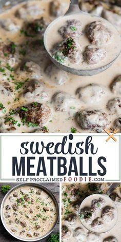 Swedish Meatball Recipes, Swedish Recipes, Easy Swedish Meatballs, Authentic Swedish Meatballs Recipe, Sweedish Meatballs, Swedish Meatball Appetizer Recipe, Swedish Dishes, Beef Dishes, Food Dishes