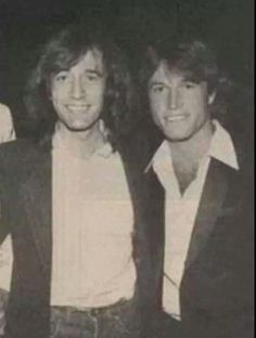 Robin and Andy Gibb ~ I never realized how much resemblance there was between these two.