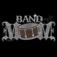 Band Mom Rhinestones by Mychristianshirts on Etsy