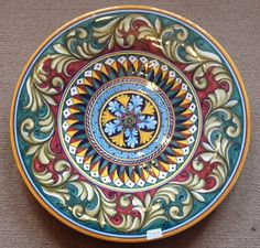 Deruta Pottery-16inch plate vario Pattern made/painted byhand-Italy. 5 • $399.99
