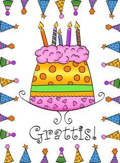 Stort Grattis Happy Day, Graffiti, Kindergarten, Birthdays, Wraps, Happy Birthday, Gift Wrapping, Education, Cool Stuff