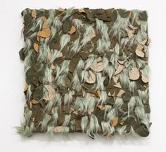 """Patrick Saytour, """"Camouflet"""", 1998, synthetic fur and net of camouflage, 50 x 50 cm."""
