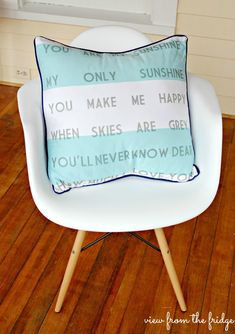 Anthropologie Inspired 'You Are My Sunshine' Pillow  |  View From The Fridge