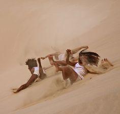 dune surfing in boa vista cape verde