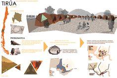 proyecto arquitectónico de inspiración ruca, vivienda mapuche. Diagram, Tips, Cards, Movie Posters, American, Architecture, Advice, Film Poster, Popcorn Posters