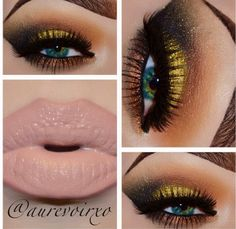 Fall makeup- great for brown eyes as well