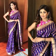 Handloom Sarees - Buy Handloom Silk Sarees and Cotton Sarees Online from Weavers of Shatika. Indian Beauty Saree, Indian Sarees, Indian Bollywood, Shilpa Shetty Saree, Lehriya Saree, Khadi Saree, Sonakshi Sinha, Salwar Kameez, Indian Dresses