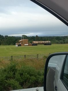 STRANGE FARM FUN - COOL HAY ROLLS FORMED INTO A LONG SEMI TRUCK WITH TRAILER!!