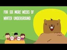 Free Groundhog Day Songs and Rhymes for Circle Time Kindergarten Groundhog Day, Groundhog Day Activities, Kindergarten Poems, Preschool Songs, Kids Songs, Kids Music, School Holidays, Ground Hog, Winter Songs