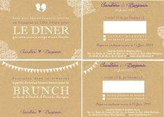 faire part mariage coupon rponse dner brunch craft dentelle wedding invitation reception brunch - Carton Reponse Faire Part Mariage