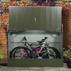 Bike Storage, Bicycle Storage Shed, Trimetals Cycle Storage Bicycle Storage Shed, Outdoor Bike Storage, Metal Storage Sheds, Metal Shed, Garden Tool Storage, Bike Shed, Garage Velo, Bike Locker, Bike Storage Solutions
