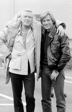 George Peppard and Dirk Benedict
