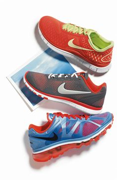 Super cute running shoes. I don't know if I am the only one like this but, I think if you have cute running shoes it makes running a lot more fun.
