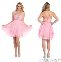 Short Prom #Homecoming Formal Cocktail Dress Plus Size Strapless Chiffon