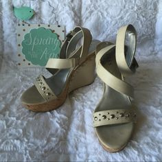Guess platform sandals Guess platform sandals with wrap around ankle straps. Rivets detailing. Worn once. Guess Shoes Sandals