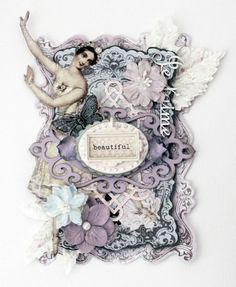 Fairy Tag creating by Steph Devlin using the Fairy Belle Collection by Jodie Lee for Prima Marketing.