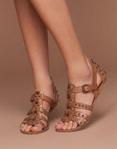 cute studded sandals