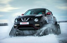 The Nissan Juke Nismo RSnow is a specially modified Juke Nismo RS which has been adapted for powering through snow. The most obvious and significant modification to the vehicle are the four rubber ...