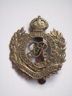 George V Royal Engineers Volunteers Cap Badge