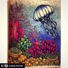 Instagram photos tagged #oceanoperdido - Pikore Coloring Book Art, Colouring Pages, Adult Coloring Pages, Coloring Tips, Lost Ocean, Johanna Basford Coloring Book, Colored Pencil Techniques, Desenho Tattoo, Color Pencil Art