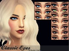 The Sims Resource: Classic Eyes by Baarbiie-GiirL • Sims 4 Downloads